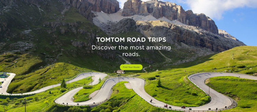 TomTom Road Trips: the world's best roads at just one click