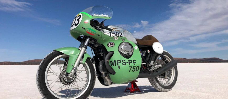 A '72 model V7 smashes the Australian speed record: the story of Andre Deubel