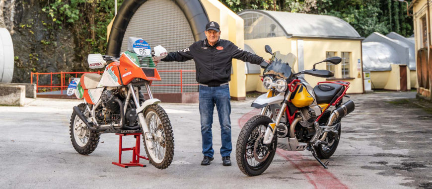 """My Dakars with Moto Guzzi"": Claudio Torri, from the African rallies to the V85 TT"